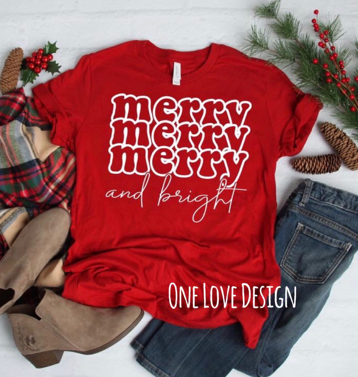 Merry Merry Merry and Bright tee