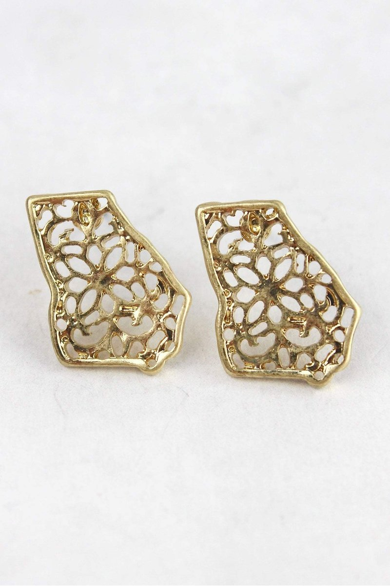Filigree Georgia Stud Earrings