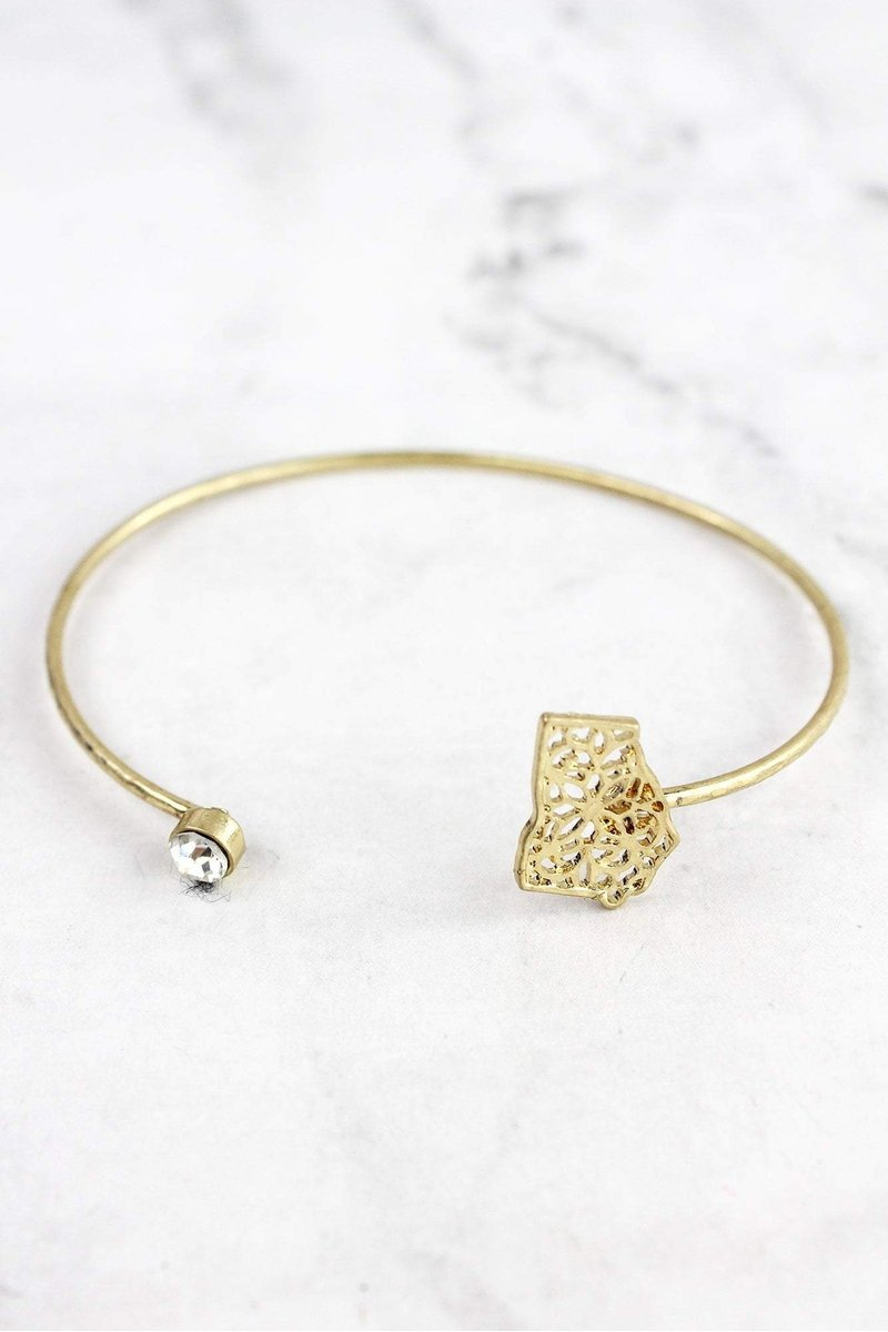 Filigree Georgia and Crystal Bangle