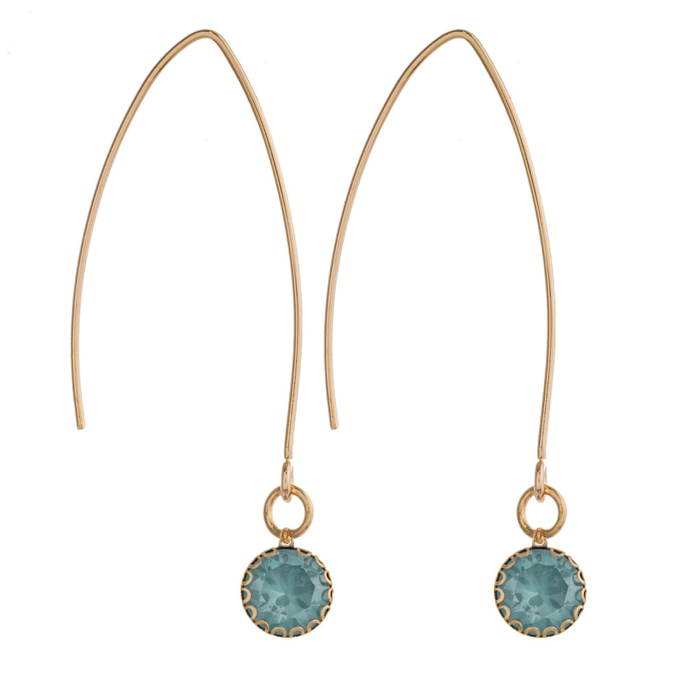 Emerald Threaded drop earrings