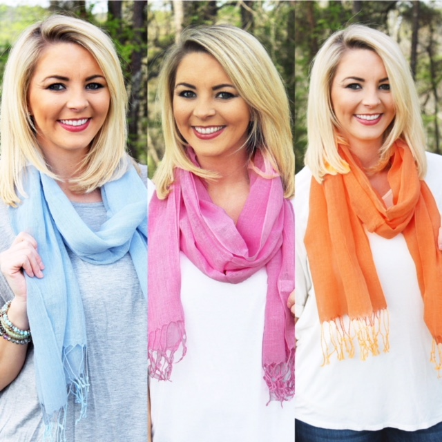 Casual days scarves (ORANGE,PINK & BLUE)