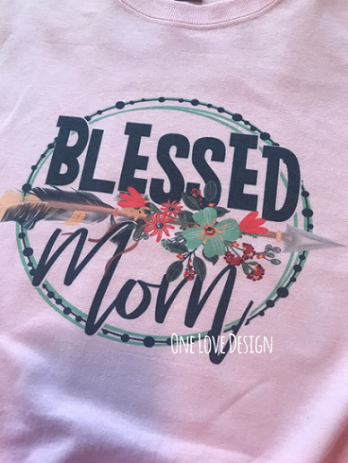 Blessed Mom Sublimation Tee