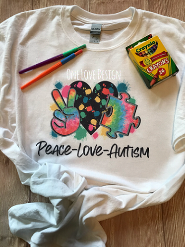 Peace Love Autism Sublimation Tee