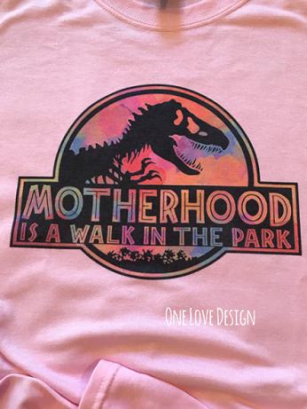 Motherhood Dinosaur Sublimation Tee