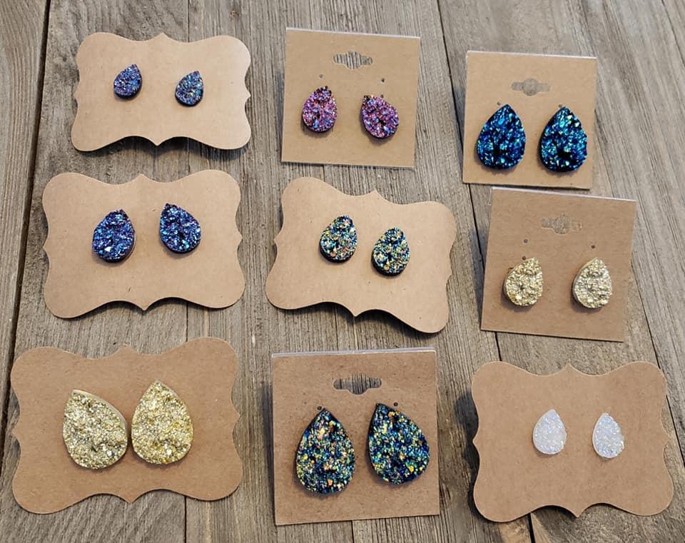 Mystery Druzy Earrings