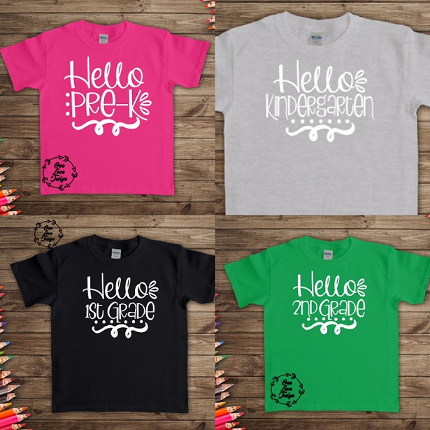 Youth Back to School Tees