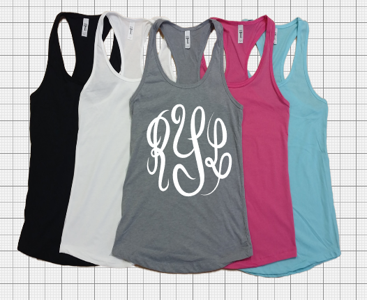 Monogram Ladies Fit Tanks