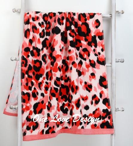 Cheetah Embroidered Beach Towel
