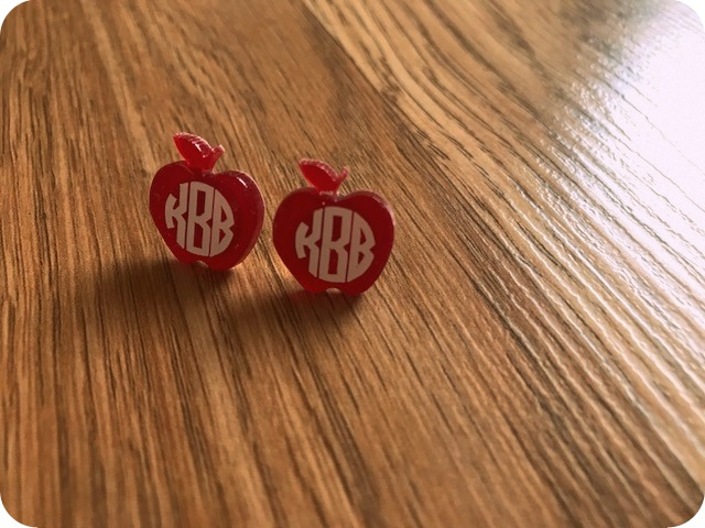 Acrylic Apple Earrings