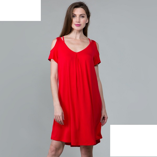Plus Red Tunic Top / Dress