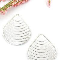 THIN STRIPE FAN OUT EARRINGS GOLDTONE AND SILVERTONE AVAILABLE
