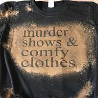Murder Shows Bleached Sublimation Tee
