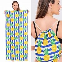 Blue Stripe Pineapple Beach Towel