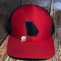 State of Georgia Hat Red/Black Fill