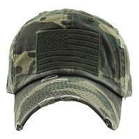 Distressed American Flag Camo Hat