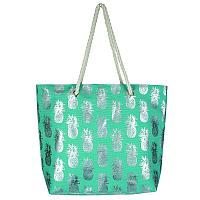 Turquoise and Silver Pineapple Tote