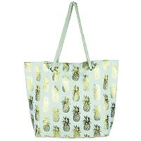 White and Gold Pineapple Tote