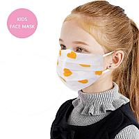 Kids Yellow Heart Face Mask