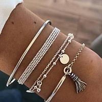 6pcs Tassel Decor Bracelet