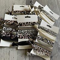 Multi pack animal print hair ties