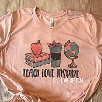 *Bella* Teach Love Inspire Sublimation Tees