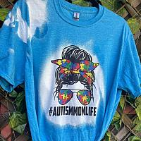 Bleached Autism Mom Tee