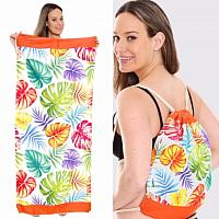 Palm Leaf Print Beach Towel