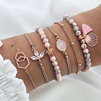 6pcs Summer Tassel Bracelet Set