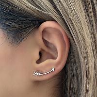 SIlvertone Arrow Stud Earrings