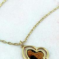 Worn Goldtone and Leopard Moroccan Pendant Necklace