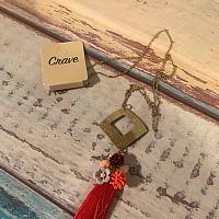 Coral Garden Bouquet Tassel Necklace