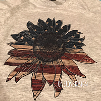 Vintage Flower Sublimation Tee