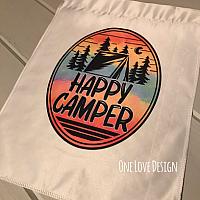 Happy Camper Garden Flag