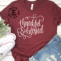 Thankful and Blessed Tee