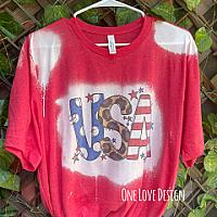 Bleached USA Tees