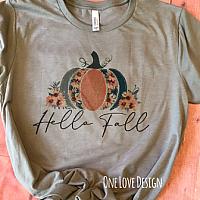 *Bella* Hello Fall Pumpkins and FLowers Tee