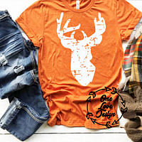 Deer Head Screen Print Tee