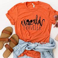 World Traveler Vinyl Tee