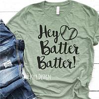 Hey Batter Batter Sublimation Tee