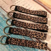 Neoprene Leopard Print Key Fob